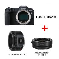 EOS RP (Body) + Mount Adapter EF-EOS R + EF50mm f/1.8 STM