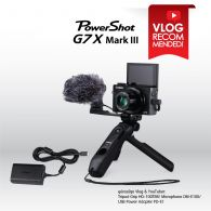 PowerShot G7X Mark III for YouTubers & Vloggers Package (Combo Set)
