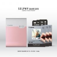SELPHY SQUARE QX10 (Pink) Promotion Pack
