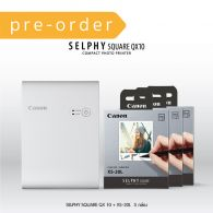 SELPHY SQUARE QX10 (White) Bundle Pack