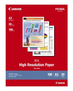 [By-Order] Canon HR-101N High Ressolution Paper 20 Sheets 106g/m2-A3