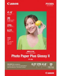 "Canon PP-208  4""X6"" Photo Paper Plus Glossy 20 Sheets 270g/m2"