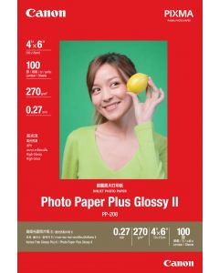 "Canon PP-208  4""X6"" Photo Paper Plus Glossy 100 Sheets 270g/m2"