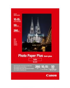 Canon SG-201 Photo Paper Plus Semi-Gloss 50 Sheets 260g/m2-4*6