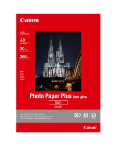 Canon SG-201 Photo Paper Plus Semi-Gloss A3 20 Sheets 260g/m2