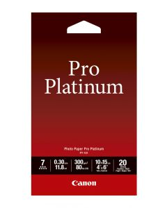 Canon PT-101 Photo Paper Pro Platinum 20 Sheets 300g/m2-4*6