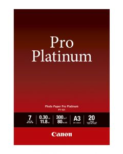Canon PT-101 Photo Paper Pro Platinum 20 Sheets 300g/m2-A3