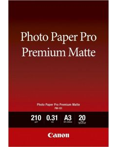 Canon PM-101 Photo Paper Pro Premium Matte A3 20 Sheets 210g/m2