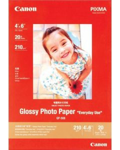 "Canon GP-508 Glossy Photo Paper "" Everyday Use"" 20 Sheets 210g/m2-4*6"