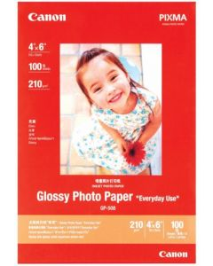 "Canon GP-508 Glossy Photo Paper "" Everyday Use"" 100 Sheets 210g/m2-4*6"