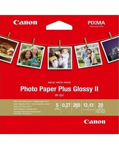 "Canon PP-201 Square 5"" Photo Paper Plus Glossy 20 Sheets 265g/m2"